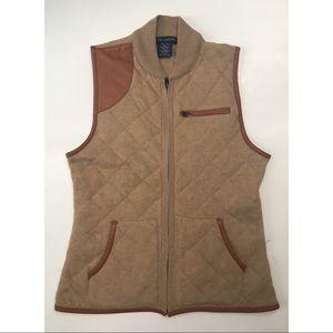 Ralph Lauren Cashmere Wool Quilted Zip Up Vest M